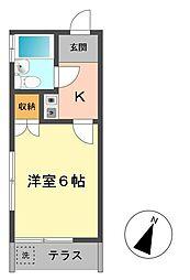 東京都江戸川区東小岩6丁目の賃貸アパートの間取り
