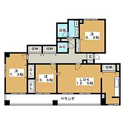 サンコーマンションII[7階]の間取り