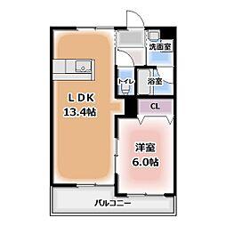 グレースコート神戸[207号室]の間取り