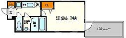 プレサンス心斎橋クオーレ 12階1Kの間取り