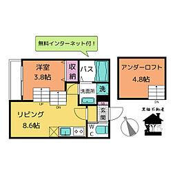 Jstage鳴海[1階]の間取り
