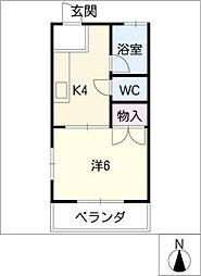 コーリーハウス[2階]の間取り