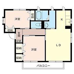シャーメゾン千塚パーク[1階]の間取り
