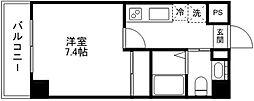 mia casa[705号室]の間取り