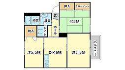 エコーズユタカ C棟[C201号室]の間取り