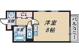 千里園Cube&Wall[302号室]の間取り