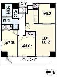 KDX泉レジデンス[11階]の間取り