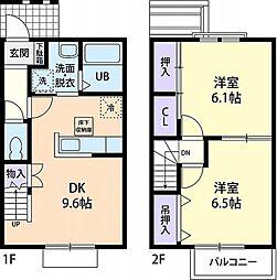 [テラスハウス] 茨城県石岡市貝地2丁目 の賃貸【/】の間取り