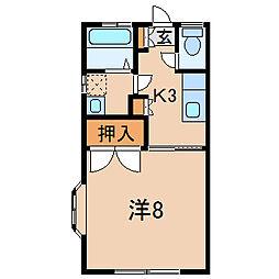 コウワハイツ[2階]の間取り