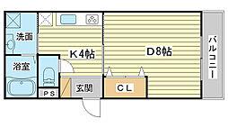 k・プラウド[101号室]の間取り