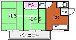 堺ハイツ[401号室]の間取り