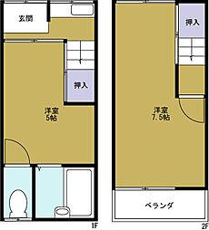 [テラスハウス] 大阪府大阪市港区三先2丁目 の賃貸【/】の間取り