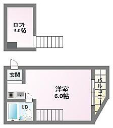 トアアルディ駒川[1階]の間取り