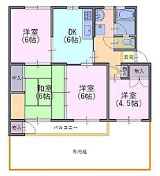 竹の台団地C3棟106号[106号室]の間取り