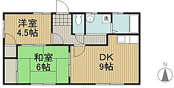 レジデンスT・M[2階]の間取り