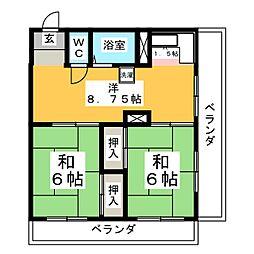 立町第三ビル[3階]の間取り