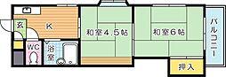アベニュー筒井[5階]の間取り