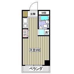 埼玉県熊谷市宮前町2丁目の賃貸マンションの間取り
