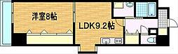 滋賀県大津市長等2丁目の賃貸マンションの間取り