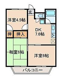 森ケ丘第五マンション[3階]の間取り