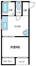 篠原ハイツ[103号室]の間取り