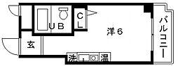 森マンション[5階]の間取り
