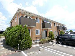 福岡県久留米市北野町上弓削の賃貸アパートの外観
