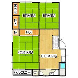 キャニオンビュー柴田屋敷[201号室]の間取り