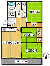 森孝東住宅2号棟[2階]の間取り
