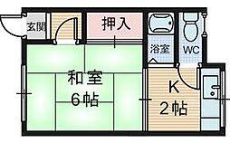 八木アパート[2階号室]の間取り