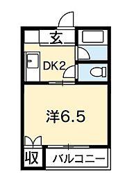 北條マンション[307号室]の間取り