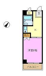 ネオポリストキワ[3階]の間取り