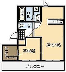 セジュールDH A棟[3階]の間取り