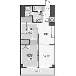 北海道札幌市西区二十四軒一条2丁目の賃貸マンションの間取り