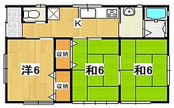 [一戸建] 茨城県日立市田尻町4丁目 の賃貸【/】の間取り