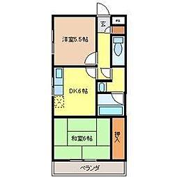野澤コーポII[3階]の間取り