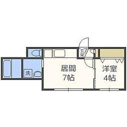 KRAVICE北円山[2階]の間取り