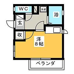 メゾンオカムラ[2階]の間取り