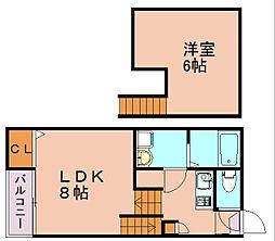 コージーハウス博多[2階]の間取り
