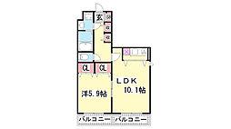 兵庫県神戸市兵庫区芦原通6丁目の賃貸マンションの間取り