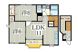 サニーフラワーヒルズ2[2階]の間取り