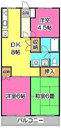 エスポワール所沢II[2階]の間取り