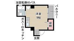 兵庫県神戸市兵庫区東出町3丁目の賃貸アパートの間取り