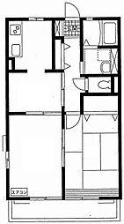 サンハウスK[2階]の間取り