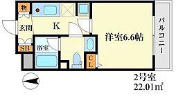 ハピネス江坂[2階]の間取り
