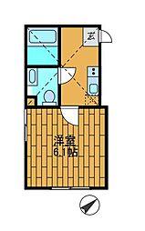 神奈川県川崎市麻生区金程1の賃貸アパートの間取り