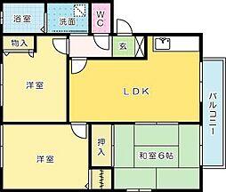 セーズプルミエ A棟[2階]の間取り