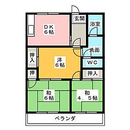 レジデンス妙興寺B棟[1階]の間取り