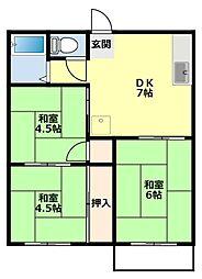 コーポシャンティ[2階]の間取り