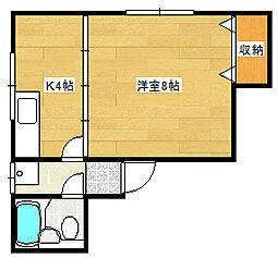 新潟県新潟市東区逢谷内6丁目の賃貸アパートの間取り